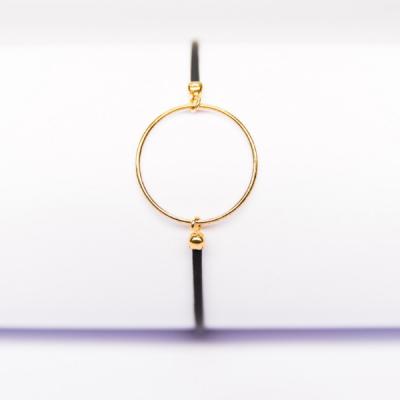Bracelet anneau plaqué or