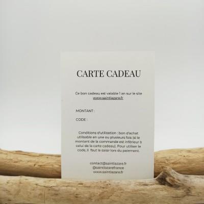 carte cadeau éco-responsable homme ou femme