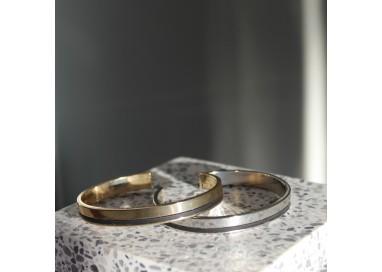 Bracelet jonc argenté