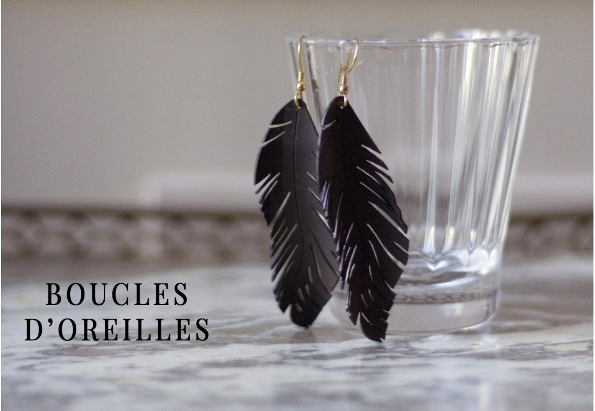 Boucles d'oreilles made in France et upcycling