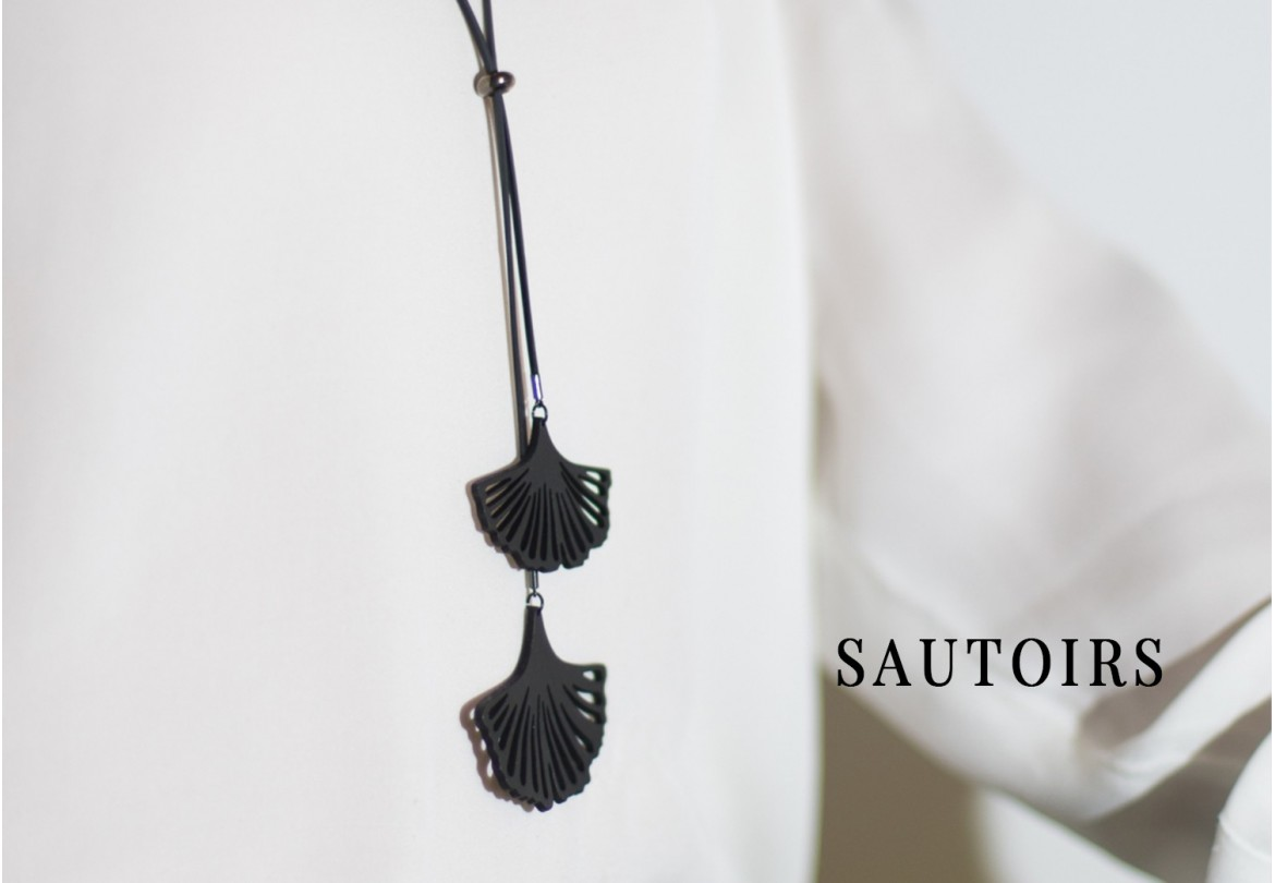 Sautoir upcyclé, vegan et durable - Made in France