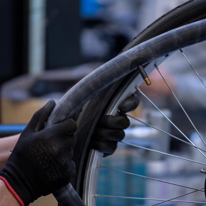 upcycling matière chambre à air de vélo
