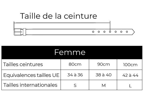 guide des tailles ceinture femme